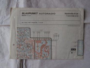 Ersatzteile-e28.de - Blaupunkt Autoradio Nashville R24 Schaltplan